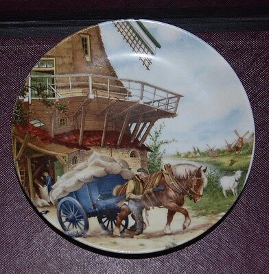 Royal Schwabap 1984 Ter Steege BV Holland small PLATE windmill draft horse