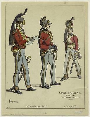 British Army Empire 1869 Dragoons Officers Swords 6x5 Inch Print