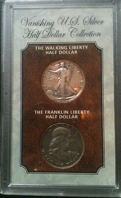 2 Coin Lot Of 1 Franklin Half Dollar And 1 Walking Liberty Half Dollar