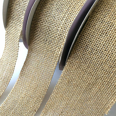 Cut Edge Natural Hessian Burlap Ribbon Craft Hobby  Choose 32, 50 ,70mm