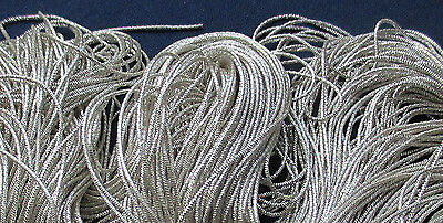 Vintage Skeins Silver Metallic Bright Purl  For Embroidery Work French