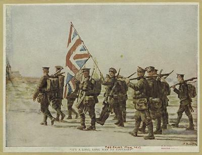 It's a Long Way to Tipperary British Soldiers Flag World War 1, 6x5 Inch Print
