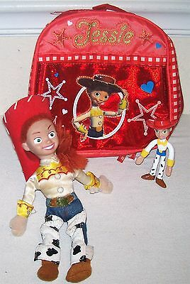 "Toy Story Jessie Cloth Insulated Fabric Lunch Box w/ 11"" Doll & PVC Figure"