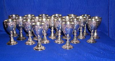 "Lot Of 20 Holiday Imports Silver Plated 4oz Goblets - 1 1/2""D X 3 2/16""H"