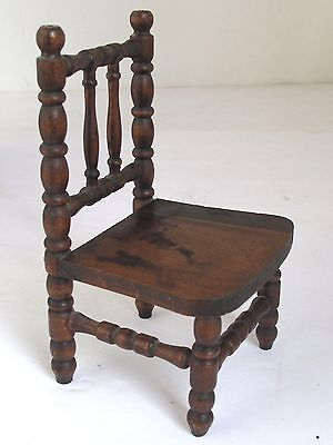 Antique Hand Made Miniature Spindle Chair One of a Kind