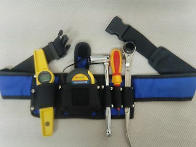 Scaffolding Tools Belt With 5 in 1 Pouches/Pockets -Tripple Spanner,Level,Tape