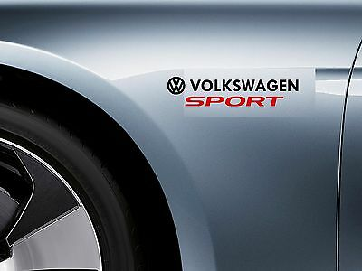 For VW - VOLKSWAGEN SPORT -  CAR DECAL STICKER ADHESIVE -  300mm long