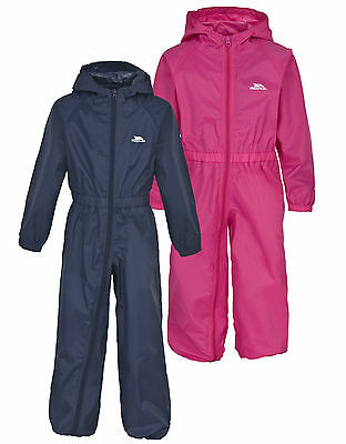 Trespass Infants All-in-One Rainsuit Navy blue or pink NEW Baby Boys puddlesuit