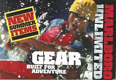Unused 1997 MARLBORO UnlimiteD adventure GEAR CATALOG cigarette collectible NEW