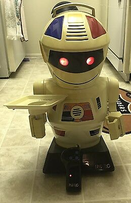 """Vintage 1980's Emiglio Remote Control 24"""" RC Robot GP Toys WORKS! See Video"""