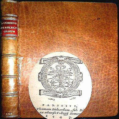 1549 Lectures Poetry Leger Duchesne 1St Edition Leather Prose Epistles Poems $$$
