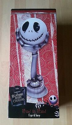 The Nightmare Before Christmas Jack Skellington Head In Hand Figural Lamp