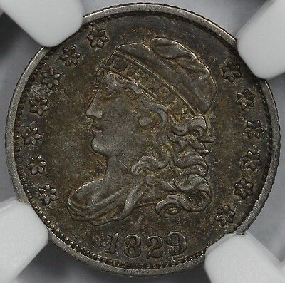 1829 H10C Capped Bust Half Dime LM-14 R-4 NGC XF 40