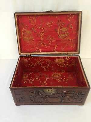 Camphorwood Chest Red Silk-Lined Small