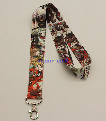 Tokyo Ghoul Anime Lanyard Neck Strap ID Card Badge Holder Neck key Chains New