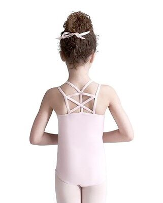 NWT Capezio Pink Geometric Leotard Toddler Girl 10619C Strappy Back Ballet Dance