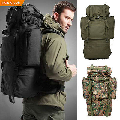30L/55L/70L Outdoor Sport Military Waterproof Travel Hiking Camping Backpack Bag
