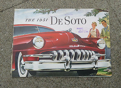 Original 1951 DeSoto Large Sales   Booklet