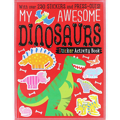 My Awesome Dinosaurs Sticker Activity Book (Paperback), Children's Books, New