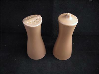 Poole MUSHROOM & SEPIA Twintone SALT & PEPPER Set *WOW!*