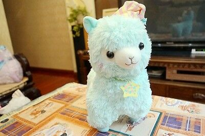 "14"" Llama Alpaca Alpacasso Good Night Pajamas Cap Stuffed Plush Doll Toy Blue"