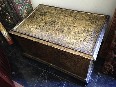 Burmese Real Gold Lacquer Box