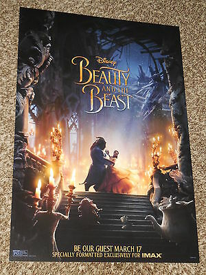 BEAUTY AND THE BEAST 2017 IMAX 13x19 PROMO MOVIE POSTER