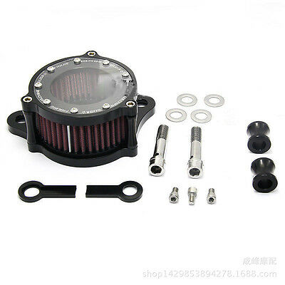 For Harley Sportster XL 883 1200 1991-2016 Air Cleaner Intake Filter System Kit