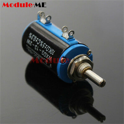 1PCS WXD3-13 2W 10K ohm Multi Turn Wire Wound Control Potentiometers MO
