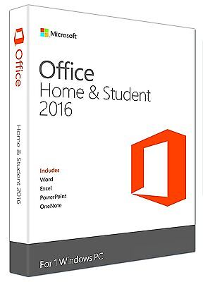 Microsoft Office Home And Student 2016 Digital License Download Key 1 PC