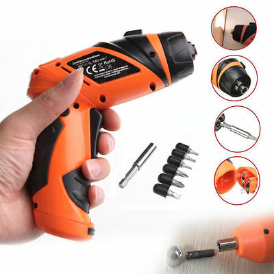 Portable 6V Electric Screwdriver Drill Battery Operated Cordless Wireless+Screw