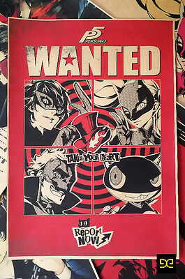 Persona5 Wanted Persona 5 Poster Wall Painting Decorative Mural 29.7*42 cm