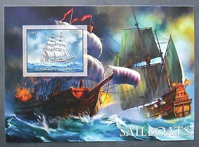 Benin 2015 - Ships, 1 S/S, not perforated, MNH, PP 979