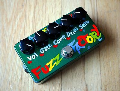 2004 ZVex Fuzz Factory Hand Painted Boutique Fuzz Guitar Effect Pedal