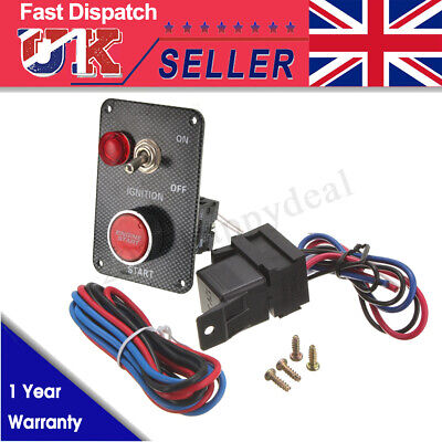 12v Ignition Push Button Engine Start Starter Switch Panel Car Aluminium Racing