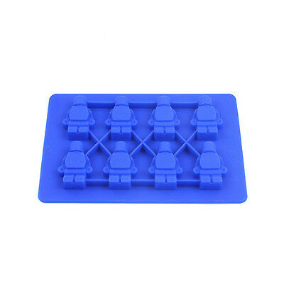 HMQC Robot 3D Soft Silicone Ice Cube Tray Mold Jello Chocolate Mould DIY