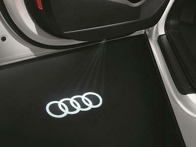 4G0052130G Genuine Audi LED Puddle Lights Rings Logo - 2 x projector