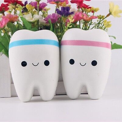 Squishy Squeeze Slow Rebound Cartoon Tooth Phone Pendant Stress Relief Vent Toy