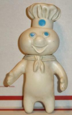 "Vintage 1971 PILSBURY DOUGHBOY 8"" poppin' fresh dough boy squeezable rubber toy"