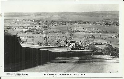 View From Mt Panorama Bathurst Nsw Photo Postcard Vintage Car
