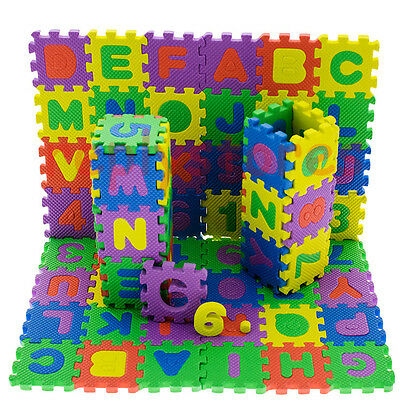 36Pcs Small Size Baby Educational Alphanumeric Puzzle Mats Child Toy Gift