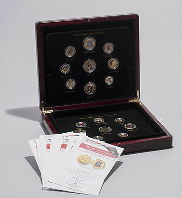 The Changing Face of Britains Coinage Golden Edition Set with Enamelled Coins