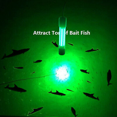 Upgraded 12V LED Green Underwater Fishing Boat Light Night Fishing Lures for Fis