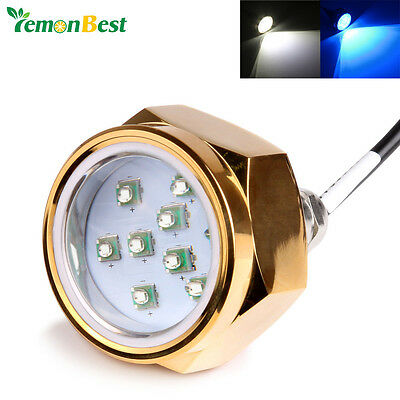 Waterproof 12V-24V 27W Boat Drain Plug Light 9 LED Boat Light Underwater Boat La