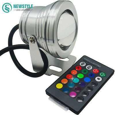 10W RGB Led Underwater Light DC12V IP67 Waterproof Aquarium Swimming Pool Spotli