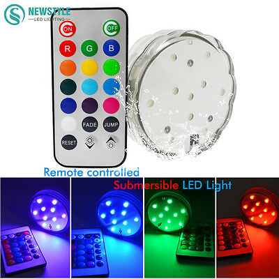 Waterproof IP68 Submersible Led Underwater Lights  16 colors RGB Led light with