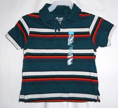 Boys 18 Month Green Multi Colored Striped Polo Shirt Nwt ~ The Children's Place