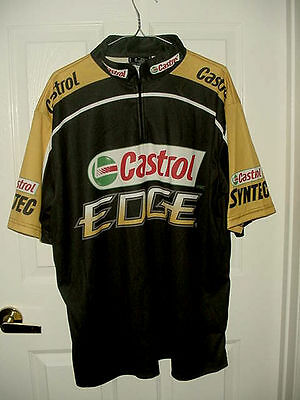 New Size XL CASTROL OIL polo shirt Black & yellow