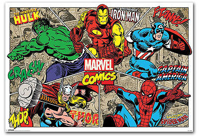 "Marvel Comics Super Hero Fridge Toolbox Magnet Size 3.5"" x 2.5"""