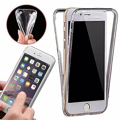 Phone Case Cover✔Clear Gel 2 Pieces Front+Back✔Full Body All Round Protection